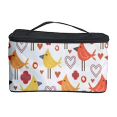 Animal Pattern Happy Birds Seamless Pattern Cosmetic Storage Case