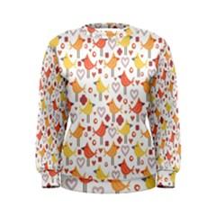 Animal Pattern Happy Birds Seamless Pattern Women s Sweatshirt