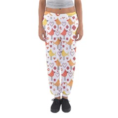 Animal Pattern Happy Birds Seamless Pattern Women s Jogger Sweatpants