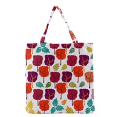 Tree Pattern Background Grocery Tote Bag