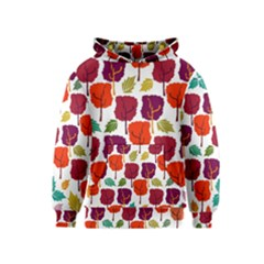 Tree Pattern Background Kids  Pullover Hoodie