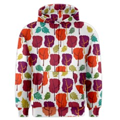 Tree Pattern Background Men s Zipper Hoodie