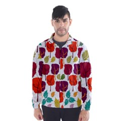 Tree Pattern Background Wind Breaker (Men)