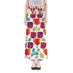 Tree Pattern Background Maxi Skirts