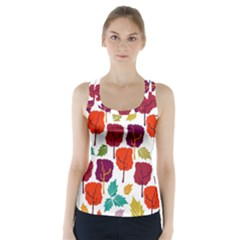 Tree Pattern Background Racer Back Sports Top