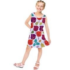 Tree Pattern Background Kids  Tunic Dress