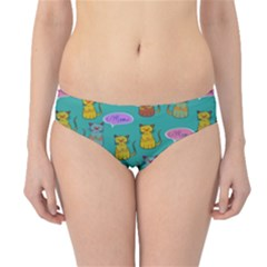 Meow Cat Pattern Hipster Bikini Bottoms