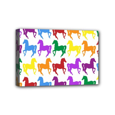 Colorful Horse Background Wallpaper Mini Canvas 6  X 4