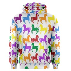 Colorful Horse Background Wallpaper Men s Pullover Hoodie