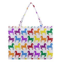 Colorful Horse Background Wallpaper Medium Tote Bag