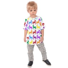 Colorful Horse Background Wallpaper Kids  Raglan Tee