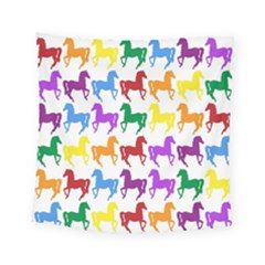 Colorful Horse Background Wallpaper Square Tapestry (small)