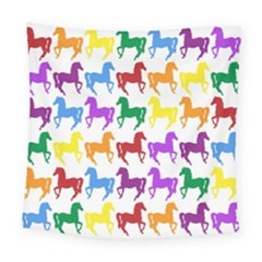 Colorful Horse Background Wallpaper Square Tapestry (large)
