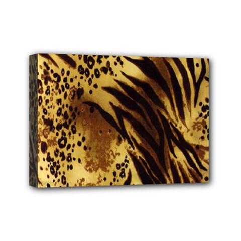 Stripes Tiger Pattern Safari Animal Print Mini Canvas 7  X 5
