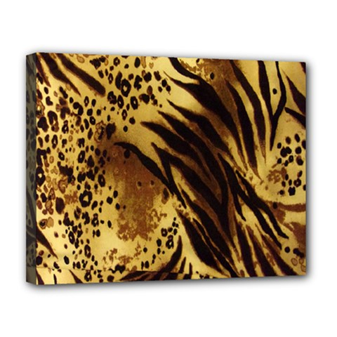 Stripes Tiger Pattern Safari Animal Print Canvas 14  X 11
