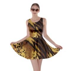 Stripes Tiger Pattern Safari Animal Print Skater Dress