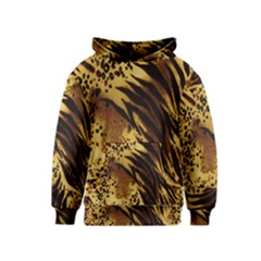Stripes Tiger Pattern Safari Animal Print Kids  Pullover Hoodie