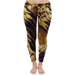 Stripes Tiger Pattern Safari Animal Print Classic Winter Leggings