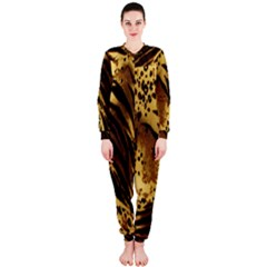 Stripes Tiger Pattern Safari Animal Print Onepiece Jumpsuit (ladies)