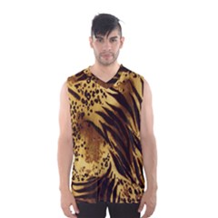Stripes Tiger Pattern Safari Animal Print Men s Basketball Tank Top