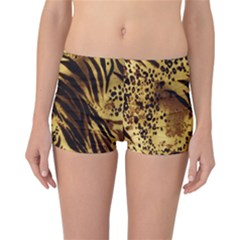 Stripes Tiger Pattern Safari Animal Print Reversible Bikini Bottoms