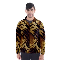 Stripes Tiger Pattern Safari Animal Print Wind Breaker (Men)