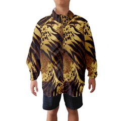 Stripes Tiger Pattern Safari Animal Print Wind Breaker (kids)