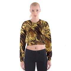 Stripes Tiger Pattern Safari Animal Print Women s Cropped Sweatshirt