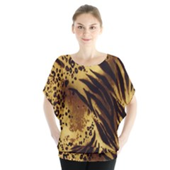 Stripes Tiger Pattern Safari Animal Print Blouse