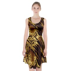 Stripes Tiger Pattern Safari Animal Print Racerback Midi Dress