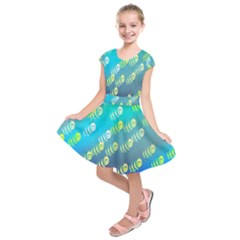 Animal Nature Cartoon Wild Wildlife Wild Life Kids  Short Sleeve Dress