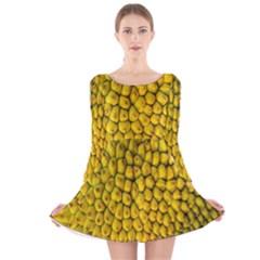 Jack Shell Jack Fruit Close Long Sleeve Velvet Skater Dress