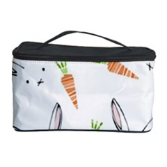 Rabbit Carrot Pattern Weft Step Cosmetic Storage Case