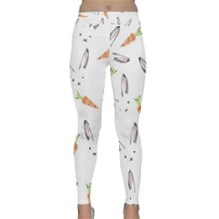 Rabbit Carrot Pattern Weft Step Classic Yoga Leggings