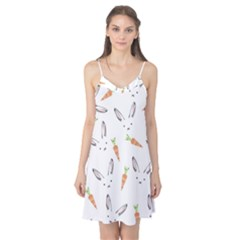 Rabbit Carrot Pattern Weft Step Camis Nightgown