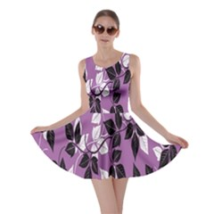 Floral Pattern Background Skater Dress