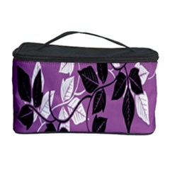 Floral Pattern Background Cosmetic Storage Case
