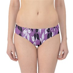 Floral Pattern Background Hipster Bikini Bottoms
