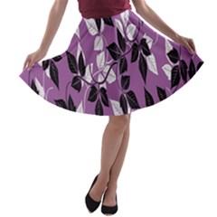 Floral Pattern Background A-line Skater Skirt