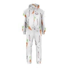 Rabbit Carrot Pattern Weft Step Hooded Jumpsuit (kids)