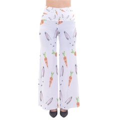 Rabbit Carrot Pattern Weft Step Pants
