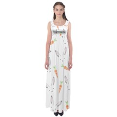 Rabbit Carrot Pattern Weft Step Empire Waist Maxi Dress
