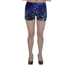 Fabric Animal Motifs Skinny Shorts