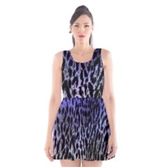 Fabric Animal Motifs Scoop Neck Skater Dress