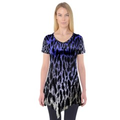 Fabric Animal Motifs Short Sleeve Tunic