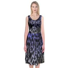 Fabric Animal Motifs Midi Sleeveless Dress