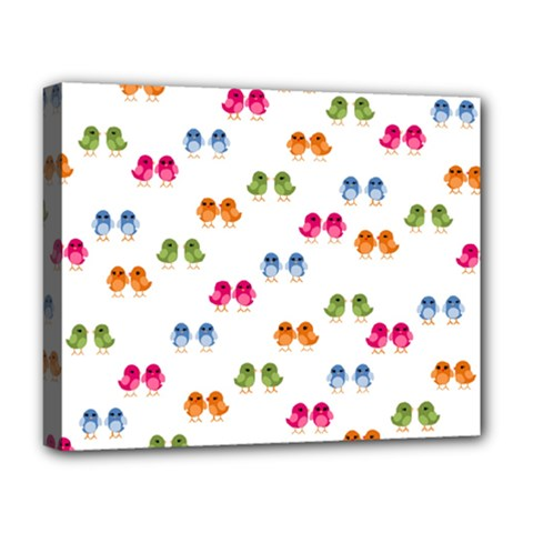 Pattern Birds Cute Design Nature Deluxe Canvas 20  X 16