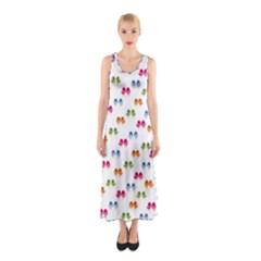 Pattern Birds Cute Design Nature Sleeveless Maxi Dress