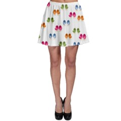 Pattern Birds Cute Design Nature Skater Skirt