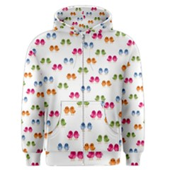 Pattern Birds Cute Design Nature Men s Zipper Hoodie